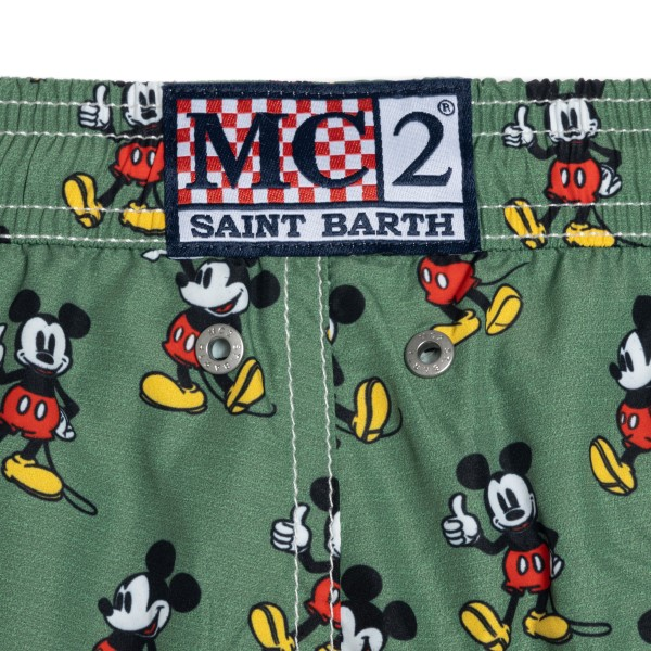 Green costume with Mickey Mouse pattern                                                                                                                SAINT BARTH