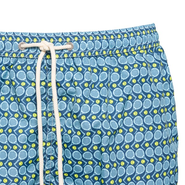 Blue swimsuit with tennis pattern                                                                                                                      SAINT BARTH
