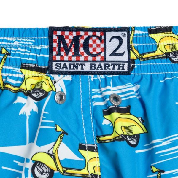 Costume azzurro con Vespa                                                                                                                              SAINT BARTH                                        SAINT BARTH