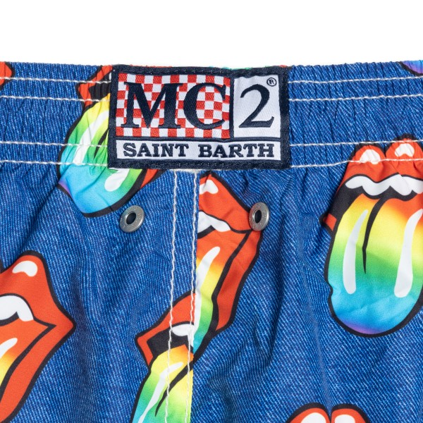 Blue costume with Rolling Stones logo                                                                                                                  SAINT BARTH