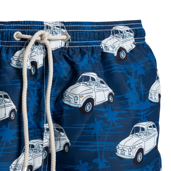Costume blu con stampa macchine e palme                                                                                                                SAINT BARTH                                        SAINT BARTH