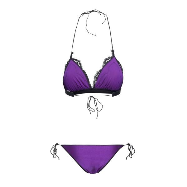 Purple bikini set with embroidery                                                                                                                      OSEREE SWIMWEAR