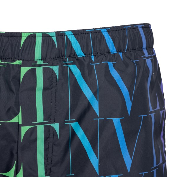 Black swimsuit with multicolored logo                                                                                                                  VALENTINO