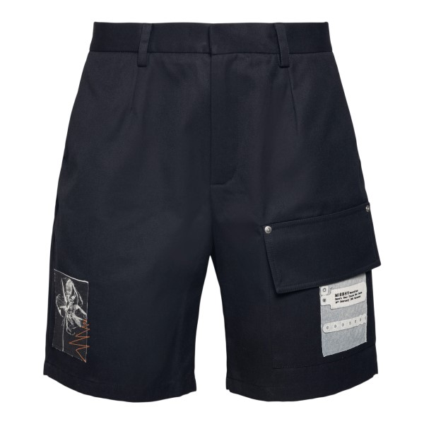 Black shorts with patch                                                                                                                                MISBHV