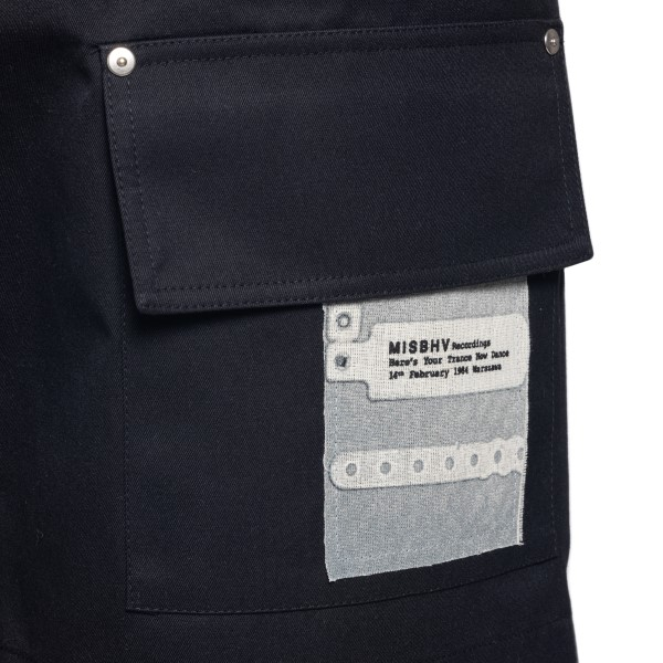 Pantaloncini neri con patch                                                                                                                            MISBHV                                             MISBHV