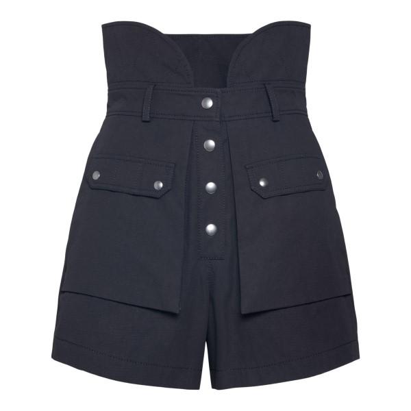 High waisted black shorts                                                                                                                             Philosophy 0301 back