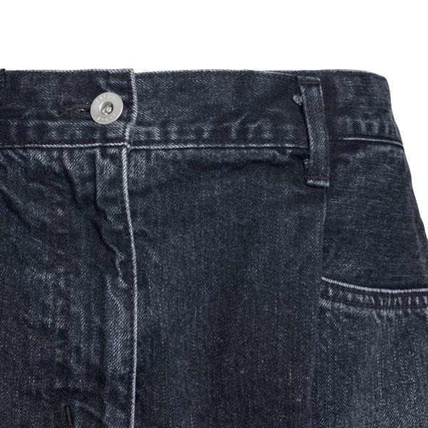 Black flared shorts                                                                                                                                    SACAI