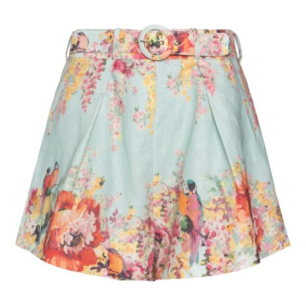 Light blue shorts with flowers                                                                                                                        Zimmermann 1900AMAE back