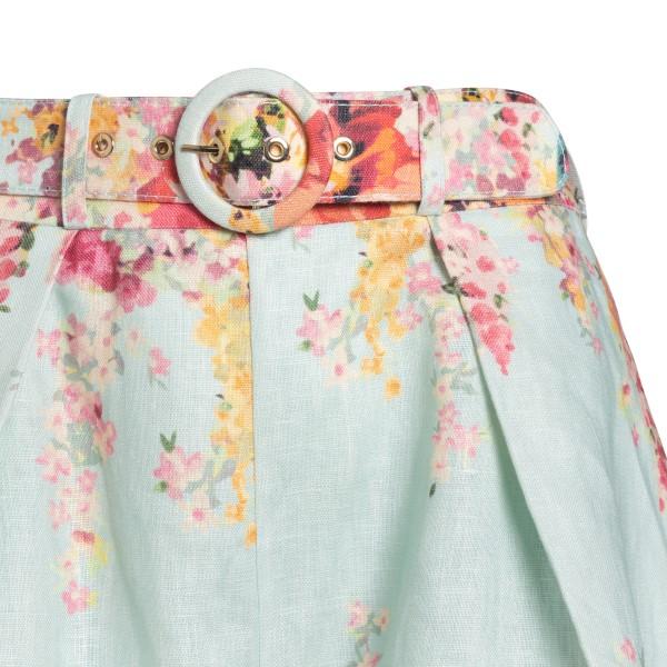 Pantaloncini azzurri con fiori                                                                                                                         ZIMMERMANN                                         ZIMMERMANN