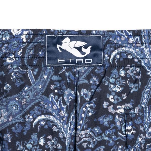 Blue paisley patterned shorts                                                                                                                          ETRO