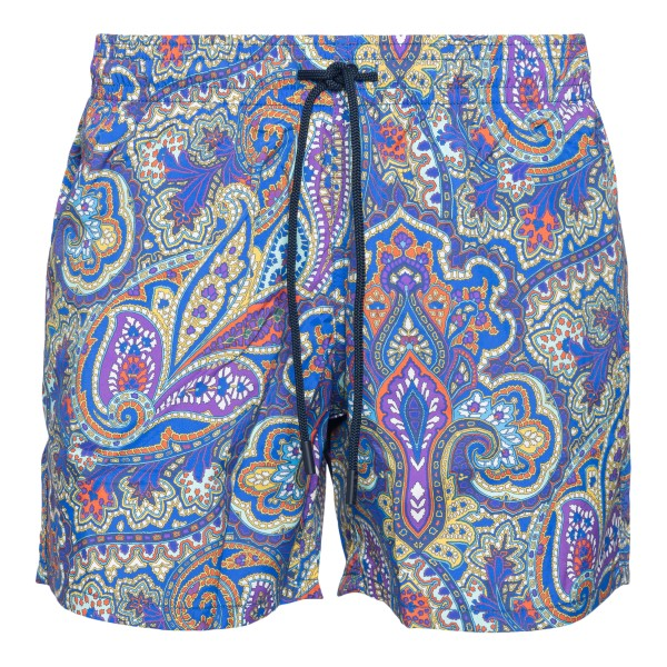 Blue shorts with paisley print                                                                                                                        Etro 1B351 back