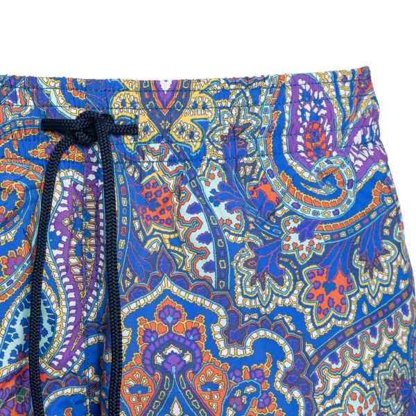 Blue shorts with paisley print                                                                                                                         ETRO