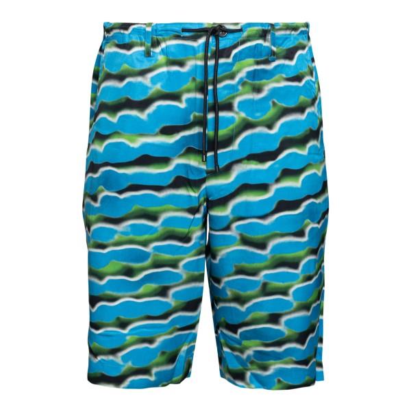 Pantaloncini azzurri a fantasia                                                                                                                       Dries Van Noten 20931 retro