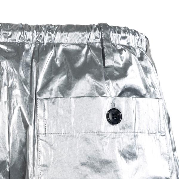Silver laminated effect bermuda shorts                                                                                                                 DRIES VAN NOTEN