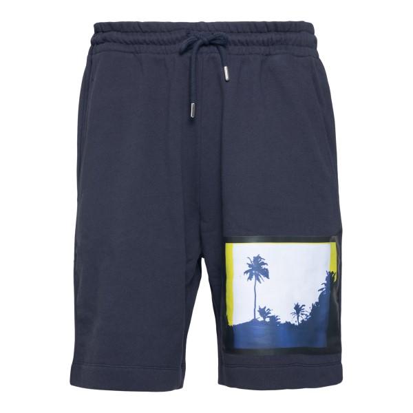 Blue shorts with print                                                                                                                                 DRIES VAN NOTEN