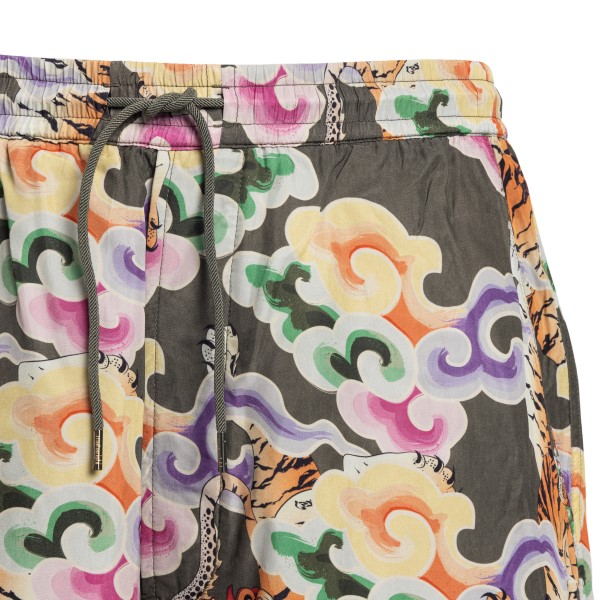 Sports shorts with graphic print                                                                                                                       MAHARISHI