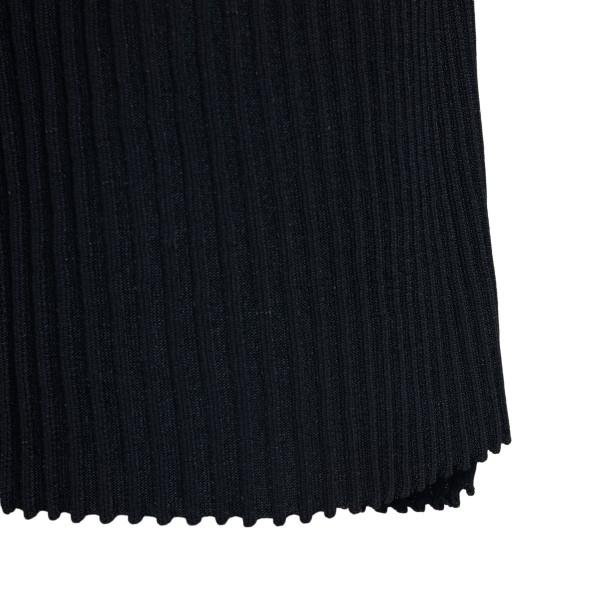 Bermuda in maglia a costine neri                                                                                                                       MAISON FLANEUR MAISON FLANEUR