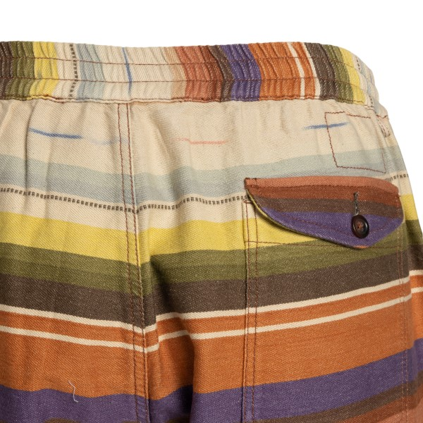 Multicolored striped bermuda shorts                                                                                                                    UNIVERSAL WORKS