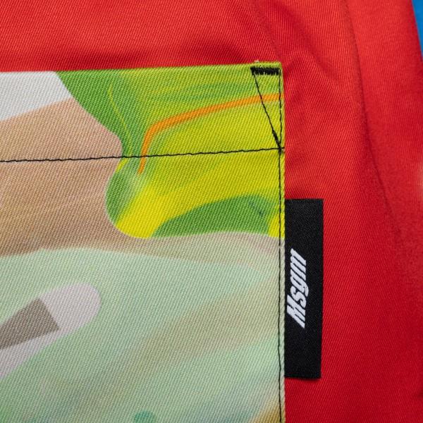 Pantaloncini multicolore con stampe                                                                                                                    MSGM                                               MSGM
