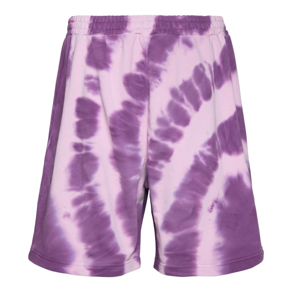 Purple tie-dye sports shorts                                                                                                                           MSGM