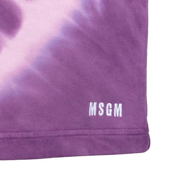 Pantaloncini sportivi viola effetto tie-dye                                                                                                            MSGM                                               MSGM