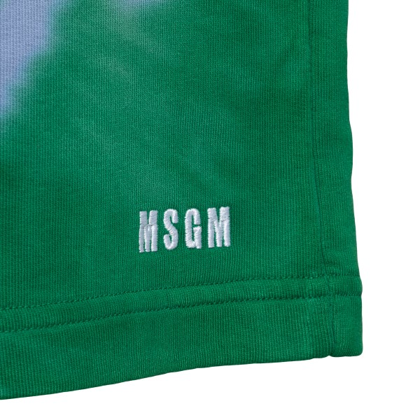 Pantaloncini sportivi verdi effetto tie-dye                                                                                                            MSGM MSGM