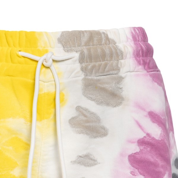 Multicolored sports shorts with logo                                                                                                                   MSGM