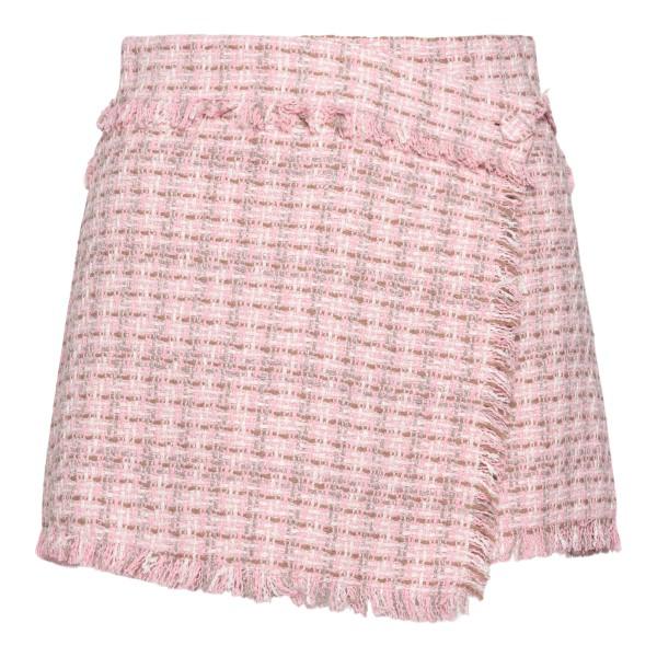 Pink tweed shorts                                                                                                                                     Msgm 3141MDB05 back
