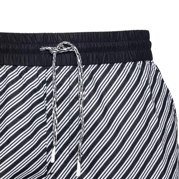 Striped black and white shorts                                                                                                                         EMPORIO ARMANI