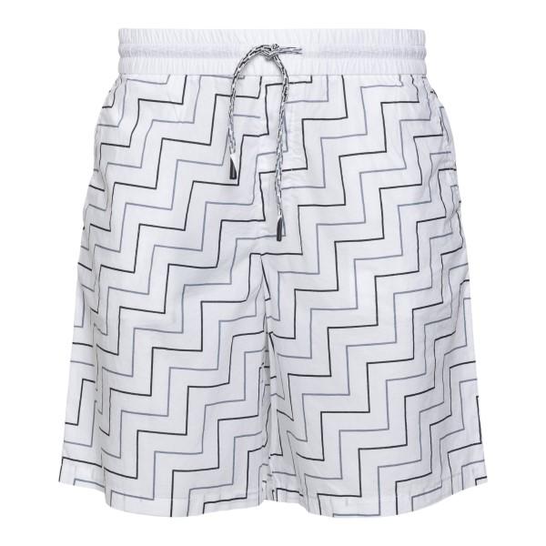 Pantaloncini bianchi con pattern geometrico                                                                                                           Emporio Armani 3K1PAI retro