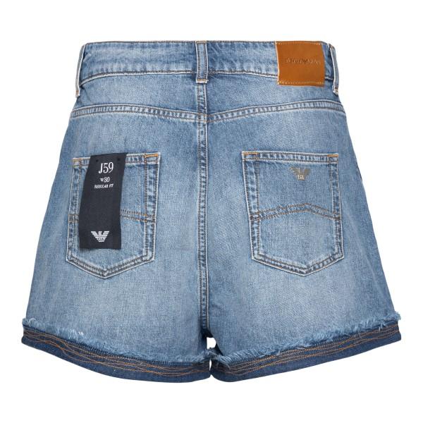 Denim shorts with contrasting stitching                                                                                                                EMPORIO ARMANI