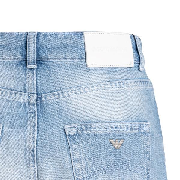 Shorts in denim azzurro con paillettes                                                                                                                 EMPORIO ARMANI                                     EMPORIO ARMANI