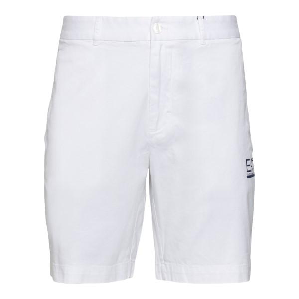 Bermuda bianchi con stampa logo                                                                                                                       Ea7 3KPS01 retro