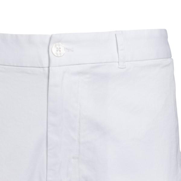 White bermuda shorts with logo print                                                                                                                   EA7