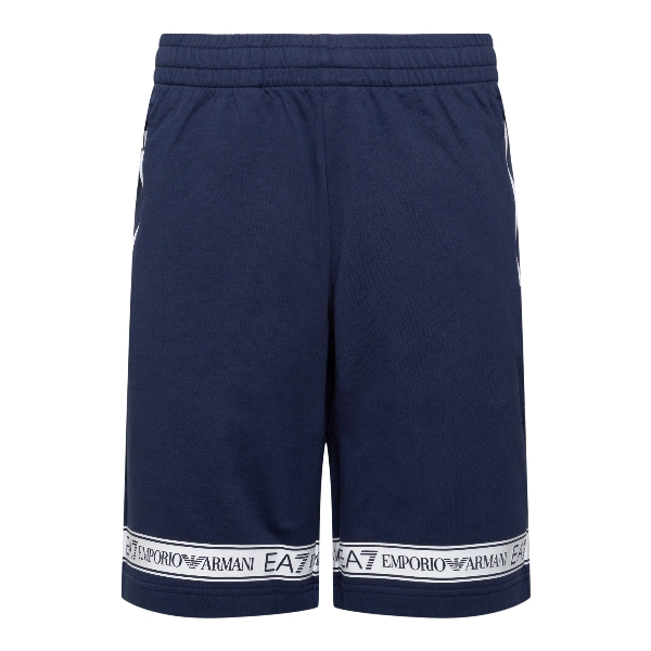 Blue shorts with brand name                                                                                                                            EA7