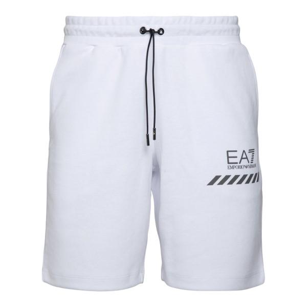 White sports shorts with logo                                                                                                                         Ea7 3KPS75 back