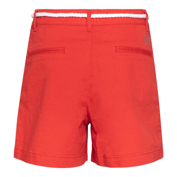 Pantaloncini rossi con cintura in corda                                                                                                                EA7                                                EA7