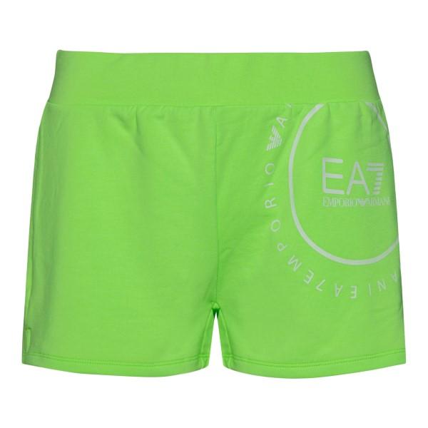 Green sports shorts with logo                                                                                                                         Ea7 3KTS60 back