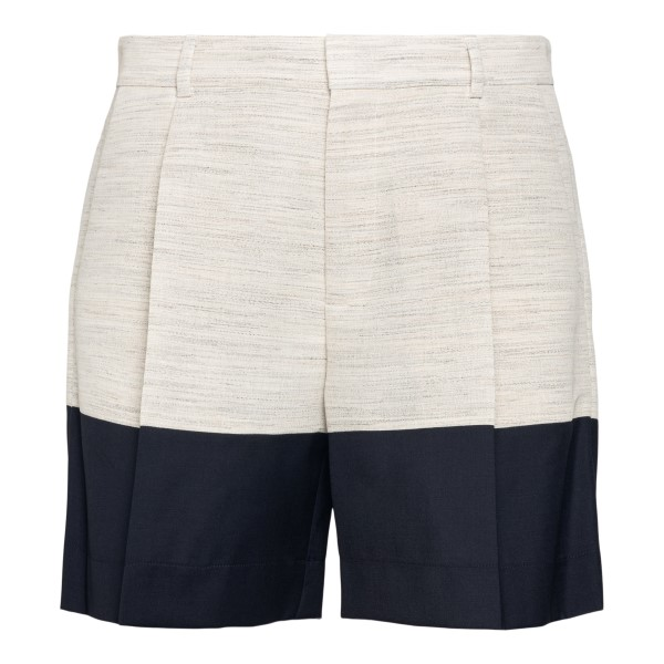 Two-tone beige and blue shorts                                                                                                                        Botter 5015 back