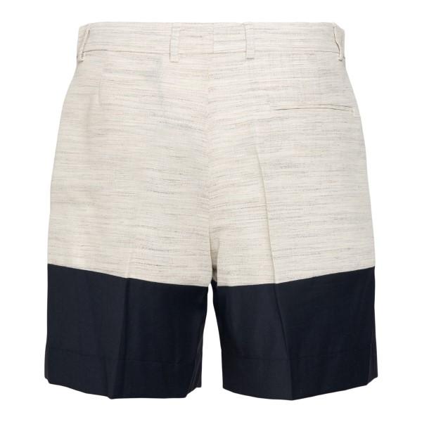 Pantaloncini bicolore beige e blu                                                                                                                      BOTTER                                             BOTTER