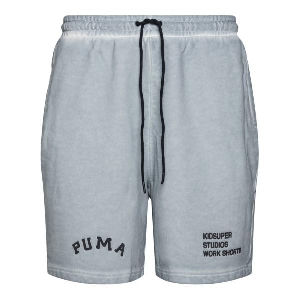 Pantaloncini grigi con logo ricamato                                                                                                                  Puma X Kidsuper 53185409 retro