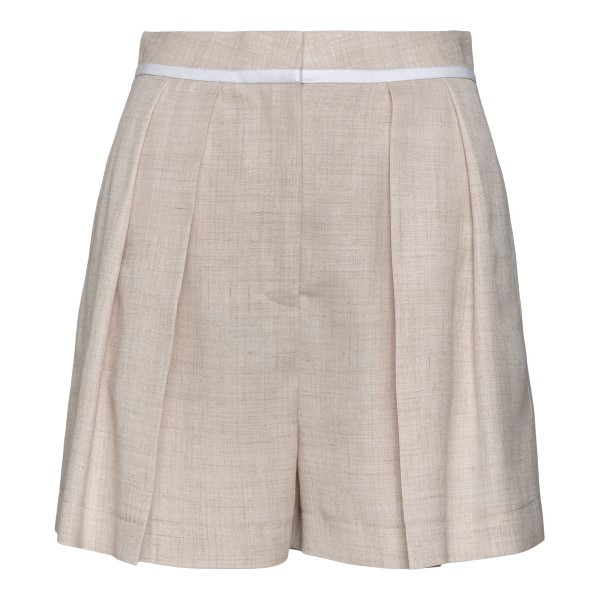 Light beige linen shorts                                                                                                                              Stella Mccartney 603134S back