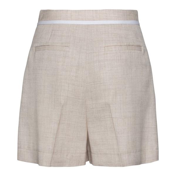 Shorts leggeri in lino beige                                                                                                                           STELLA MCCARTNEY                                   STELLA MCCARTNEY