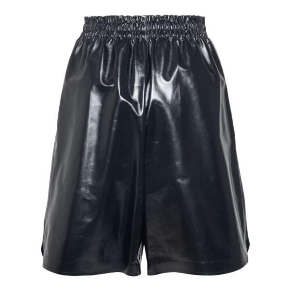 Black bermuda shorts in shiny leather                                                                                                                  BOTTEGA VENETA