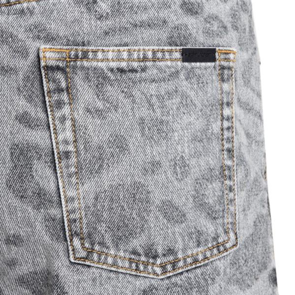 Grey shorts with animal print                                                                                                                          SAINT LAURENT