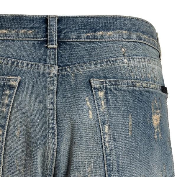 Pantaloncini in denim a effetto vissuto                                                                                                                SAINT LAURENT SAINT LAURENT