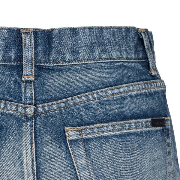 Pantaloncini in denim blu con orlo grezzo                                                                                                              SAINT LAURENT                                      SAINT LAURENT