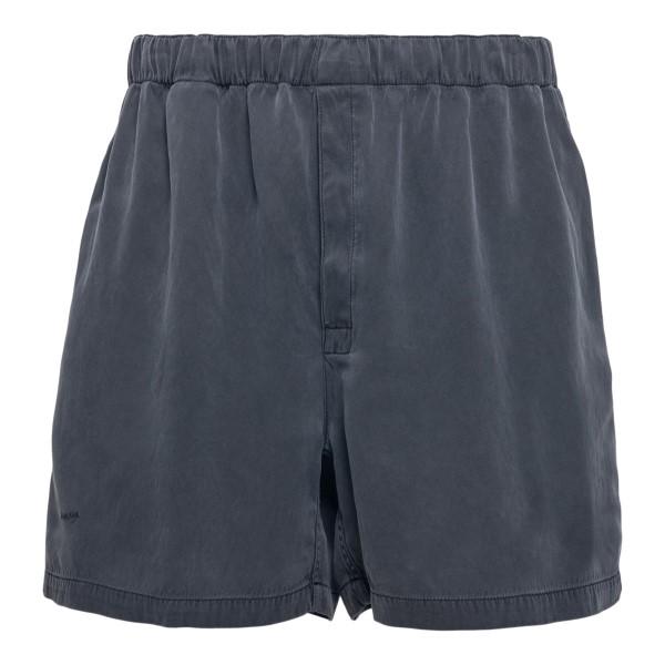 Grey shorts with embroidery                                                                                                                           Bottega veneta 648882 front