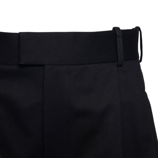 Black wide leg shorts                                                                                                                                  BOTTEGA VENETA