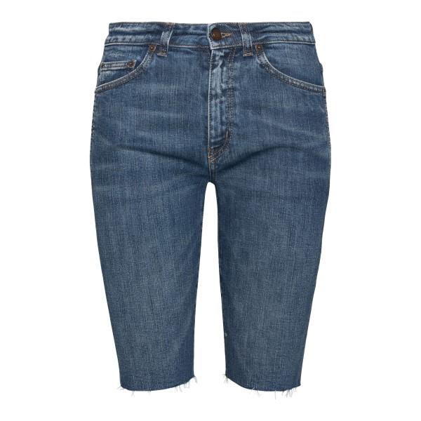 Pantaloncini skinny in denim blu                                                                                                                       SAINT LAURENT                                      SAINT LAURENT